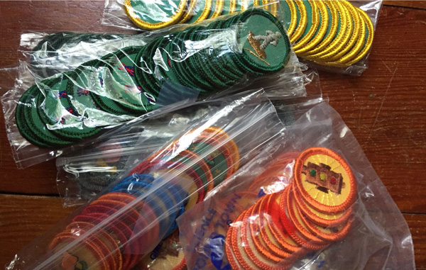bags of badges