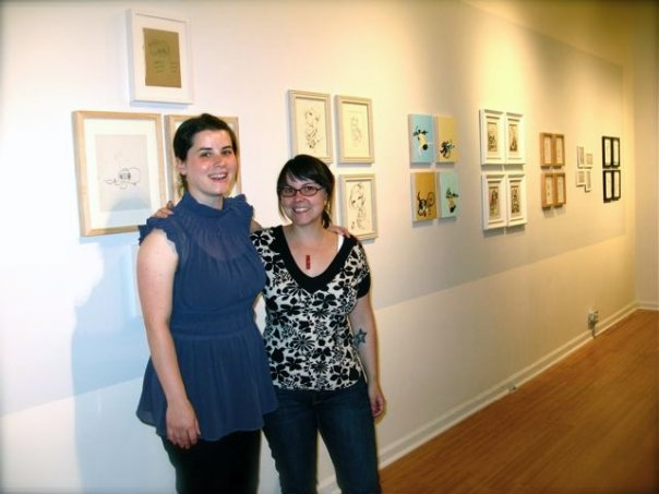 a very old photo of Erin + I in our gallery!