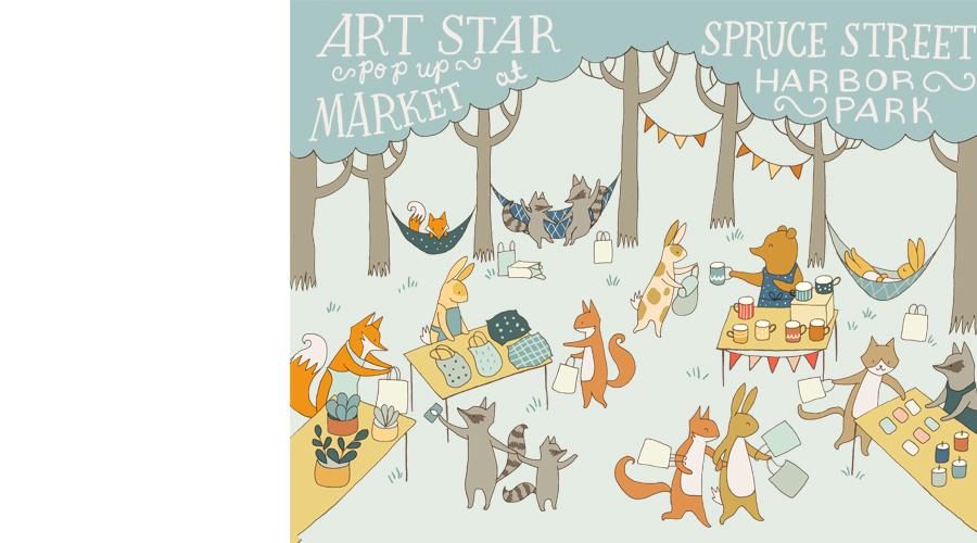 Art Star Pop Up Market at Spruce Street Harbor Park